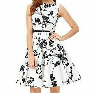 (NWOT) Grace Karin Vintage Tea Belt Dress